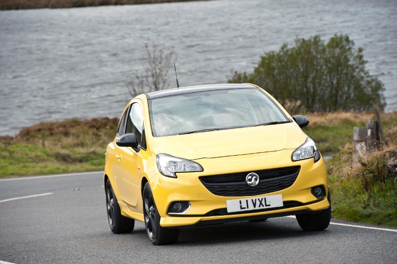 New Vauxhall Corsa yellow