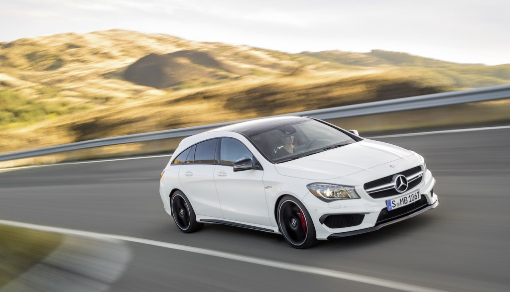 Mercedes CLA45 AMG Shooting Brake front