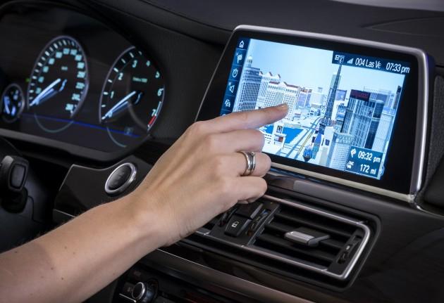 BMW iDrive touchscreen CES 2015