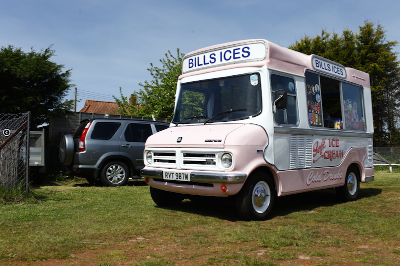 Early ice cream van